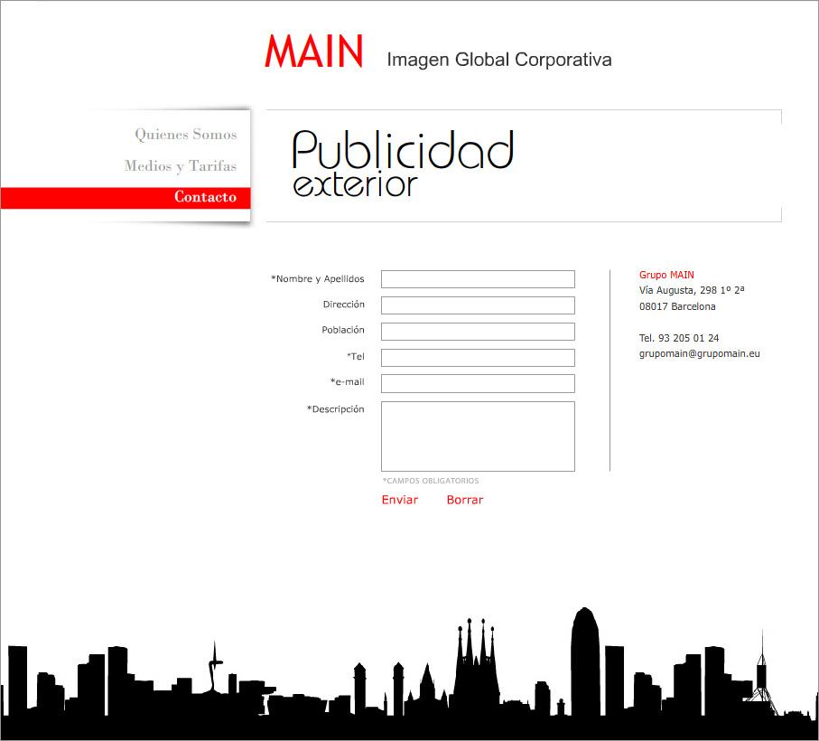Diseño web agencia de medios