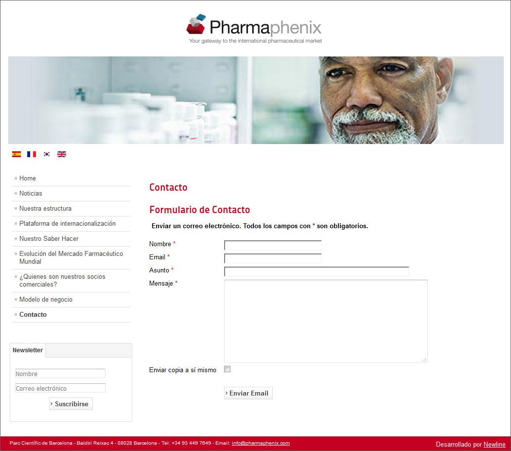 diseño web pharmaphenix