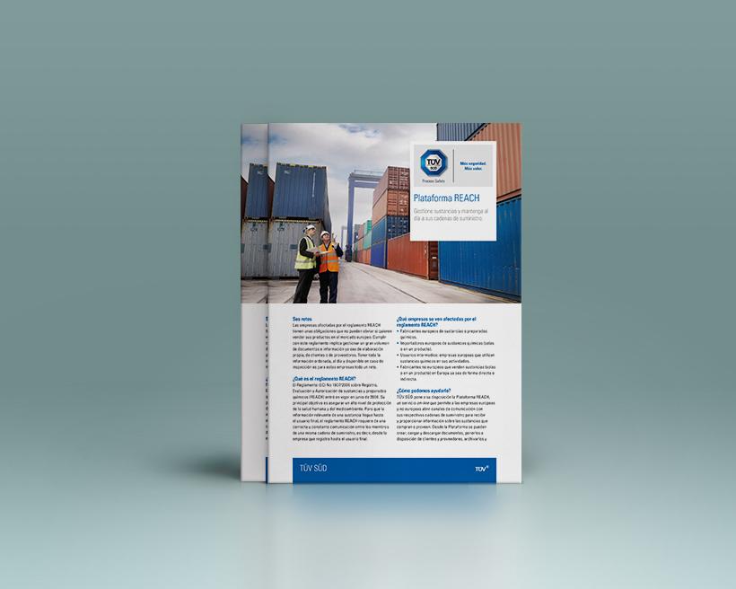 Diseño folleto TUV-SUD