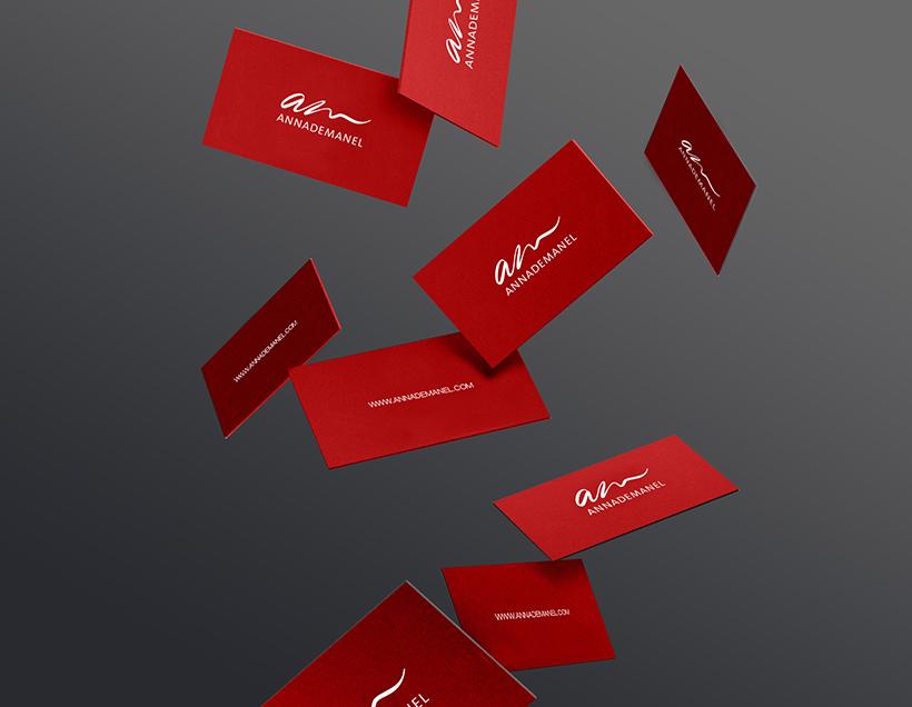 diseño tarjetas annademanel