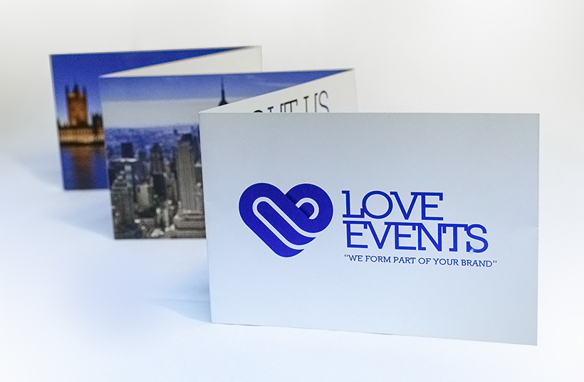diseño folleto love events