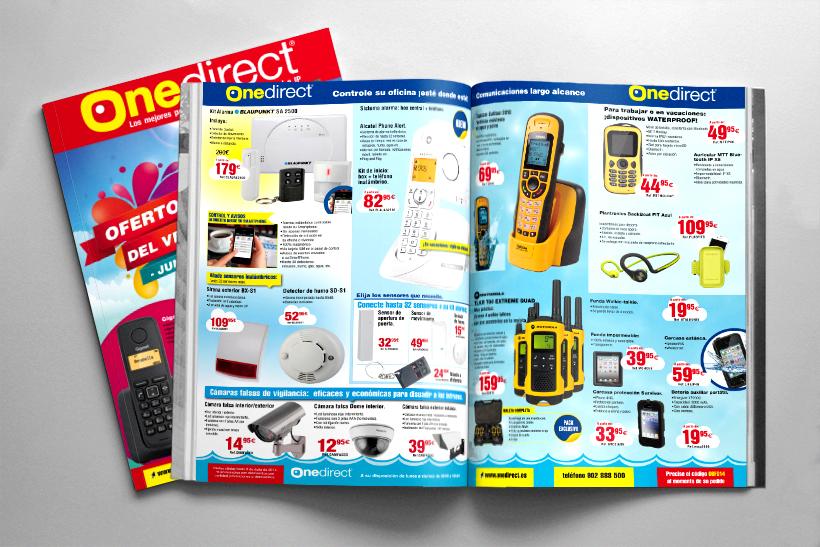 diseño y maquetación revista onedirect